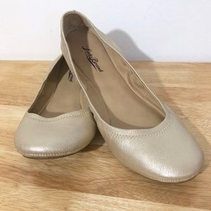 Lucky Brand Elysia Champagne Ballet Flat Shoes 10